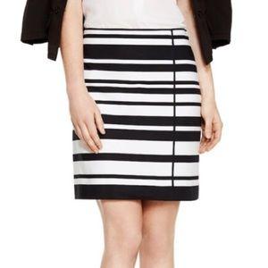 WHBM Black & White Striped Skirt - Like New!